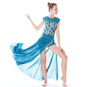Ballet Dresses Women's Performance Elastic / Swim Fabric / Lycra Paillette Natural Hair Jewelry / Dress