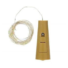 1pc Three Function Button Bottle 15 Lamp String 0.75M Wine LED String Light Cork Shaped Wine Bottle Stopper Light Lamp Christmas Party Decoration Bottle Stoppe