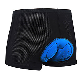 Arsuxeo Men's Cycling Under Shorts Bike Padded Shorts / Chamois 3D Pad Sports Polyester Spandex Black Road Bike Cycling Clothing Apparel Relaxed Fit Bike Wear