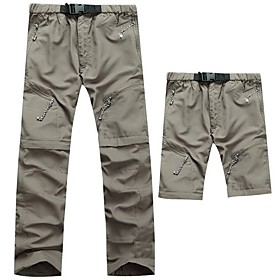 Men's Hiking Pants Convertible Pants Outdoor Fast Dry Quick Dry Breathability Pants / Trousers Hiking Climbing Outdoor Exercise Army Green Grey Khaki XL XXL XX
