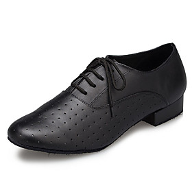 Men's Modern Shoes / Ballroom Shoes Cowhide Sneaker Splicing Thick Heel Dance Shoes Black / EU42 Category:Ballroom Shoes,Modern Shoes; Upper Materials:Cowhide; Embellishment:Splicing; Lining Material:Synthetic; Heel Type:Thick Heel; Actual Heel Height:0.98; Gender:Men's; Range:EU42; Style:Sneaker; Outsole Materials:Patent Leather; Occasion:Training; Brand:Shall We; Listing Date:10/26/2018; Production mode:Self-produce; Foot Length:; Size chart date source:Provided by Supplier.; Special selected products:new