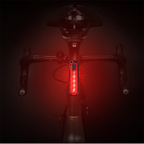 LED Bike Light Rear Bike Tail Light Safety Light Tail Light Mountain Bike MTB Cycling Waterproof Portable Quick Release Rechargeable Battery 1000 lm Rechargeab