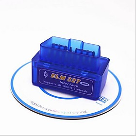 16pin Male to one Female OBD-II ELM327 App For android ISO15765-4(CAN BUS) / SAE J1850 PWM / SAE J1850 VPW Vehicle Diagnostic Scanners