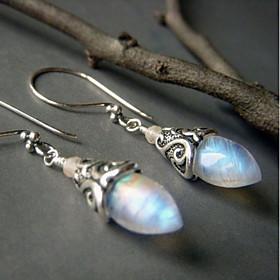 Women's Silver Silver Gemstone Beaded Stud Earrings - Heart European Silver ..