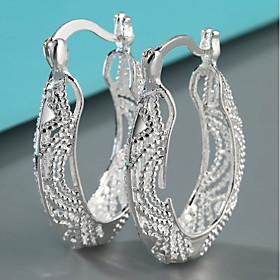 Women's Silver Silver Gemstone Classic Earrings Set - Heart European Silver ..