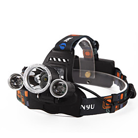 Headlamps / Headlight LED 4800 lm 4 Mode with Batteries and Charger Waterproof / Rechargeable / Night Vision Camping / Hiking / Caving / Everyday Use / Diving