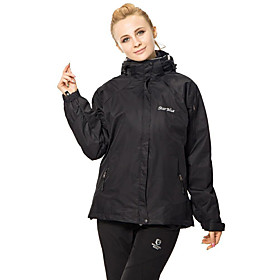 Women's Hiking 3-in-1 Jackets outdoor Spring Fall Winter Windproof Waterproof Fleece Lining Thermal / Warm Hiking Jackets Camping  Hiking Apparel  Accessories