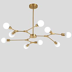Electroplated Northern Europe Chandelier 9 Head Modern Metal Molecules Pendant Lights Living Room Dining Room Bedroom