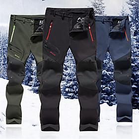 Men's Hiking Pants Outdoor Windproof, Rain-Proof, Keep Warm Autumn / Fall / Winter Pants / Trousers Hiking Camping Walking 4XL 5XL 6XL / Anatomic Design / Anat