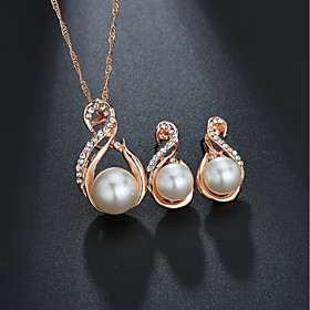 Women's Classic Jewelry Set - Imitation Pearl Sweet, Elegant Include Bridal Jewelry Sets Gold / Silver For Wedding Birthday
