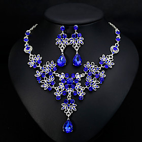 Women's Classic Jewelry Set - Stylish, European, Elegant Include Drop Earrings Necklace White / Red / Blue For Wedding Daily