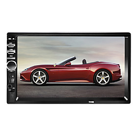 7018 7 inch 2 DIN Windows CE 6.0 In-Dash Car DVD Player for Universal Support AVI / MPG / PMP MP3 / WMA / WAV / TF Card / Car MP4 Player / Car MP5 Player