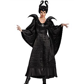 Witch Fairytale Cosplay Cosplay Costume Party Costume Women's Halloween Carnival Festival / Holiday Outfits Black Solid Color