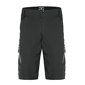 WOSAWE Men's Women's Cycling Pants Bike Bottoms Sports Black Mountain Bike MTB Clothing Apparel Relaxed Fit Bike Wear