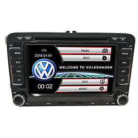 520WGNR04 7 inch 2 DIN Windows CE In-Dash Car DVD Player GPS / Touch Screen / Built-in Bluetooth for Volkswagen Support / Steering Wheel Control / Subwoofer Ou