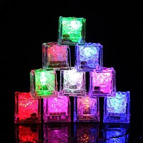 12pcs DIY Colorful Flash LED Ice Cubes