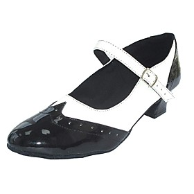 Women's Dance Shoes PU Swing Shoes Heel Thick Heel Black-white / Black / Red / Black / Blue Category:Swing Shoes; Upper Materials:PU; Lining Material:Leather; Heel Type:Thick Heel; Gender:Women's; Style:Heel; Outsole Materials:Suede; Occasion:Party; Listing Date:12/25/2018; Foot Length:; Size chart date source:Measured by LightInTheBox.