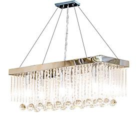 6-Light Crystal Chandelier Downlight Chrome Metal Crystal 110-120V / 220-240V Bulb Not Included / E12 / E14