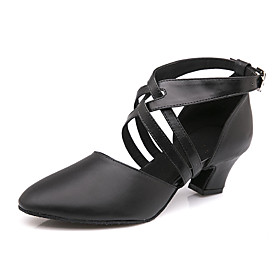 Women's Modern Shoes / Ballroom Shoes Cowhide Ankle Strap Heel / Sneaker Buckle Cuban Heel Customizable Dance Shoes Black / Performance / Practice Category:Ballroom Shoes,Modern Shoes; Upper Materials:Cowhide; Embellishment:Buckle; Lining Material:Flannel; Heel Type:Cuban Heel; Gender:Women's; Style:Sneaker,Heel; Outsole Materials:Leather; Occasion:Practice,Training,Performance; Closure Type:Ankle Strap; Customized Shoes:Customizable; Listing Date:12/21/2018; Production mode:Self-produce; Foot Length:; Size chart date source:Measured by LightInTheBox.; Popular Country:Sweden,United Kingdom,Australia,France