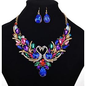 Women's Multicolor Cubic Zirconia Tennis Chain Jewelry Set Imitation Diamond..