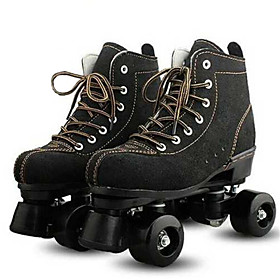 Roller Skates Adults' Well-ventilated, Durable, Wheels Light up Black, Yellow Roller Skating