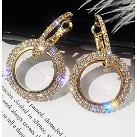 Women's Hollow Out Drop Earrings Imitation Diamond Earrings stardust Simple Korean Elegant Jewelry Gold / Silver For Birthday Daily 1 Pair