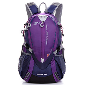 Hiking Backpack 25 L - Waterproof Breathable Rain Waterproof Outdoor Camping / Hiking Hunting Climbing Terylene Mesh Nylon Red Purple Yellow