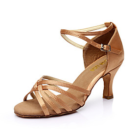Women's Dance Shoes PU Leather / Satin Latin Shoes / Salsa Shoes Buckle Sandal Customized Heel Customizable Silver / Brown / Gold / EU40 Category:Salsa Shoes,Latin Shoes; Upper Materials:PU Leather,Satin; Embellishment:Buckle; Lining Material:Fabric; Heel Type:Customized Heel; Actual Heel Height:Customized Heel; Gender:Women's; Range:EU40; Style:Sandal; Outsole Materials:Leather; Closure Type:Buckle; Customized Shoes:Customizable; Brand:SUN LISA; Listing Date:10/13/2014; Foot Length:; SizeChart1_ID:2:468; Size chart date source:Provided by Supplier.; Base Categories:Dance Shoes,Shoes,Apparel  Accessories; Popular Country:Spain,United States,United Kingdom,France; Special selected products:hot