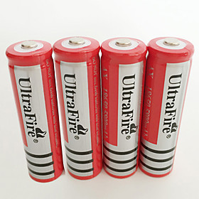 UltraFire BRC Li-ion 18650 Battery 4200 mAh 4pcs Rechargeable for LED Flashlight Bike Light Headlamps Hunting Climbing Camping / Hiking / Caving