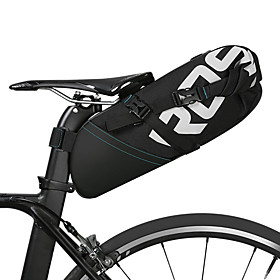 ROSWHEEL 10 L Bike Saddle Bag Reflective Rain Waterproof Waterproof Zipper Bike Bag Polyester Bicycle Bag Cycle Bag Cycling Bike / Bicycle