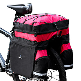 ROSWHEEL 60 L Bike Panniers Bag Bike Rack Bag 3 In 1 Waterproof Rain Waterproof Bike Bag 600D Ripstop Bicycle Bag Cycle Bag Cycling Outdoor Exercise