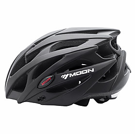 MOON Adults Bike Helmet 21 Vents Impact Resistant Lightweight Ventilation EPS PC Sports Mountain Bike / MTB Road Cycling Cycling / Bike - Black / Integrally-mo