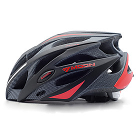 MOON Adults Bike Helmet 21 Vents Impact Resistant Lightweight Adjustable Fit EPS PC Sports Mountain Bike / MTB Road Cycling Cycling / Bike - Black Black / Red