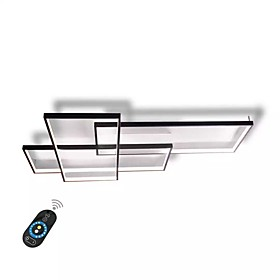 UMEI™ Linear Wall Light / Flush Mount Lights Ambient Light Painted Finishes Aluminum Dimmable With Remote Control 85-265V White / Warm WhiteWhite / Wi-Fi Smart