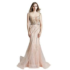7ca491e2cf86 A sirena Con decorazione gioiello Lungo Tulle   Con strass Brillante e  glitterato   See Through