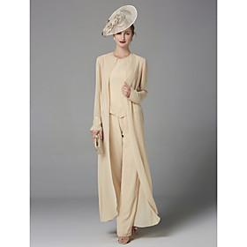 b17d8d2b3d8e completo pantalone Con decorazione gioiello Lungo Chiffon Abito da  cerimonia per signora con Perline di LAN
