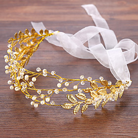 Women's Headbands Hair Jewelry For Wedding Wedding Alloy Golden 1pc Gender:Women's; Quantity:1pc; Theme:Wedding; Jewelry Type:Hair Jewelry,Headbands; Occasion:Wedding; Material:Alloy; Shipping Weight:0.15; Package Dimensions:35.035.035.0; Net Weight:0.16; Listing Date:04/07/2020