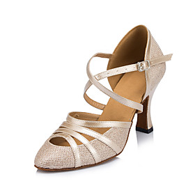 Women's Modern Shoes / Ballroom Shoes Lace Cross Strap Heel Tassel Thick Heel Customizable Dance Shoes Black / Beige / Silver / Performance Category:Ballroom Shoes,Modern Shoes; Upper Materials:Lace; Embellishment:Tassel; Lining Material:Leatherette; Heel Type:Thick Heel; Actual Heel Height:2.76; Gender:Women's; Style:Heel; Heel Height(inch):3 - 4; Outsole Materials:Leather; Occasion:Training,Performance,Party; Closure Type:Cross Strap; Customized Shoes:Customizable; Listing Date:10/17/2019; Production mode:Self-produce; Foot Length:; Size chart date source:Provided by Supplier.; Popular Country:United Kingdom,France,Spain,United States,Germany