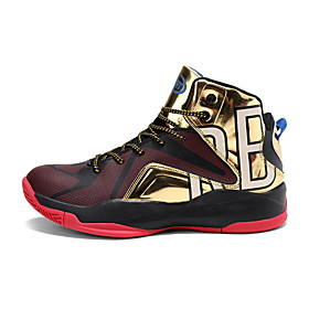 Men's Comfort Shoes PU Spring  Summer Sporty / Preppy Basketball Shoes Basketball Shoes / Walking Shoes Breathable Color Block Gold / Rainbow / Slogan Category:Basketball Shoes; Upper Materials:PU; Season:Spring  Summer; Gender:Men's; Activity:Walking Shoes,Basketball Shoes; Toe Shape:Round Toe; Style:Preppy,Sporty; Outsole Materials:Rubber; Occasion:Outdoor,Daily; Closure Type:Lace-up; Function:Shock Absorbing,Non-slipping,Breathable; Pattern:Slogan,Color Block; Shipping Weight:0.85; Listing Date:11/05/2019; 2020 Trends:Comfort Shoes; Foot Length:; Size chart date source:Provided by Supplier.