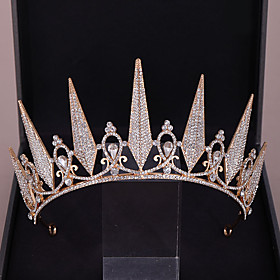 Women's Hair Jewelry For Wedding Engagement Party Birthday Party Wedding Alloy Silver Golden 1pc Gender:Women's; Quantity:1pc; Theme:Wedding; Jewelry Type:Diadem,Hair Jewelry; Occasion:Wedding,Birthday Party,Engagement Party; Material:Alloy; Shipping Weight:0.21; Package Dimensions:40.040.040.0; Listing Date:04/10/2020