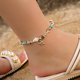 Ankle Bracelet Women's Body Jewelry For Holiday Alloy Light Yellow Light Blue 1pc Gender:Women's; Quantity:1pc; Jewelry Type:Ankle Bracelet; Occasion:Holiday; Material:Alloy; Length:25.5; Front page:Jewelry; Shipping Weight:0.008; Listing Date:09/17/2019