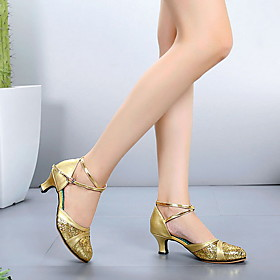 Women's Dance Shoes Leather Modern Shoes Heel Thick Heel Black / Gold / Silver Category:Modern Shoes; Upper Materials:Leather; Heel Type:Thick Heel; Gender:Women's; Style:Heel; Outsole Materials:Leatherette; Occasion:Performance; Listing Date:09/16/2019; Foot Length:; Size chart date source:Provided by Supplier.; Popular Country:France; Special selected products:COD