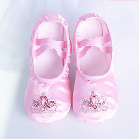 Girls' Ballet Shoes Satin Flat Flat Heel Customizable Dance Shoes Pink / Practice Category:Ballet Shoes; Upper Materials:Satin; Heel Type:Flat Heel; Gender:Girls'; Style:Flat; Outsole Materials:Rubber; Occasion:Practice; Customized Shoes:Customizable; Listing Date:09/09/2019; Foot Length:; Size chart date source:Provided by Supplier.