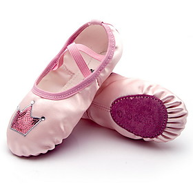 Girls' Dance Shoes Satin Ballet Shoes Flat Flat Heel Pink Category:Ballet Shoes; Upper Materials:Satin; Heel Type:Flat Heel; Gender:Girls'; Style:Flat; Outsole Materials:Rubber; Occasion:Training; Listing Date:09/09/2019; Foot Length:; Size chart date source:Provided by Supplier.; Popular Country:Portugal; Special selected products:COD