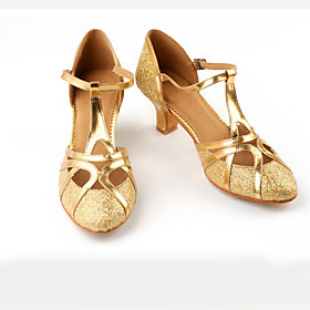 Women's Modern Shoes / Ballroom Shoes Satin Buckle Heel Splicing Cuban Heel Dance Shoes Black / Dark Brown / Gold / Performance Category:Ballroom Shoes,Modern Shoes; Upper Materials:Satin; Embellishment:Splicing; Heel Type:Cuban Heel; Actual Heel Height:2.36; Gender:Women's; Style:Heel; Heel Height(inch):2 - 3; Outsole Materials:Leather; Occasion:Performance; Closure Type:Buckle; Listing Date:10/08/2019; Production mode:Self-produce; Foot Length:; Size chart date source:Provided by Supplier.; Popular Country:Germany,United Kingdom,France,Spain,United States