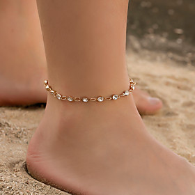 Ankle Bracelet Women's Body Jewelry For Holiday Alloy Gold Silver 1pc Gender:Women's; Quantity:1pc; Jewelry Type:Ankle Bracelet; Occasion:Holiday; Material:Alloy; Length:27.8; Front page:Jewelry; Shipping Weight:0.01; Package Dimensions:13.09.01.0; Listing Date:10/11/2019; Popular Country:United States