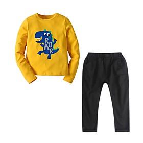 Kids Boys' Basic Print Long Sleeve Clothing Set Light Blue Fabric:Polyester; Sleeve Length:Long Sleeve; Gender:Boys'; Style:Basic; Kids Apparel:Clothing Set; Age Group:Kids; Pattern:Print; Front page:FF; Listing Date:12/10/2019; Bust:; Length [Bottom]:; Length [Top]:; Festival:Christmas