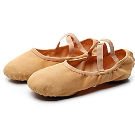 Women's Ballet Shoes Cotton Flat Flat Heel Dance Shoes Black / Brown / Camel Category:Ballet Shoes; Upper Materials:Cotton; Heel Type:Flat Heel; Gender:Women's; Style:Flat; Outsole Materials:Leather; Occasion:Training; Listing Date:02/28/2020; Foot Length:; Size chart date source:Measured by LightInTheBox.