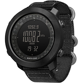 NORTH EDGE Men's Military Watch Japanese Automatic self-winding Modern Style Sporty Nylon 50 m Water Resistant / Waterproof Altimeter Thermometer Digi