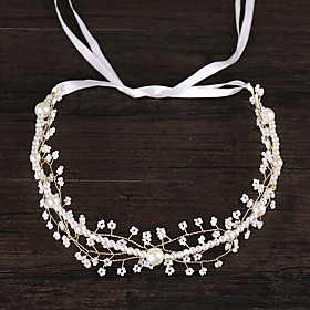 Women's Headbands Hair Jewelry For Wedding Engagement Party Birthday Wedding Alloy White 1pc Gender:Women's; Quantity:1pc; Theme:Wedding; Jewelry Type:Hair Jewelry,Headbands; Occasion:Birthday,Wedding,Engagement Party; Material:Alloy; Shipping Weight:0.12; Package Dimensions:45.045.045.0; Net Weight:0.15; Listing Date:04/07/2020